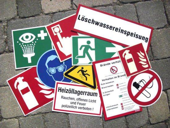 Sicherheits- & Fluchtwegbeschilderungen - Brandschutztechnik Godeck-Rucker