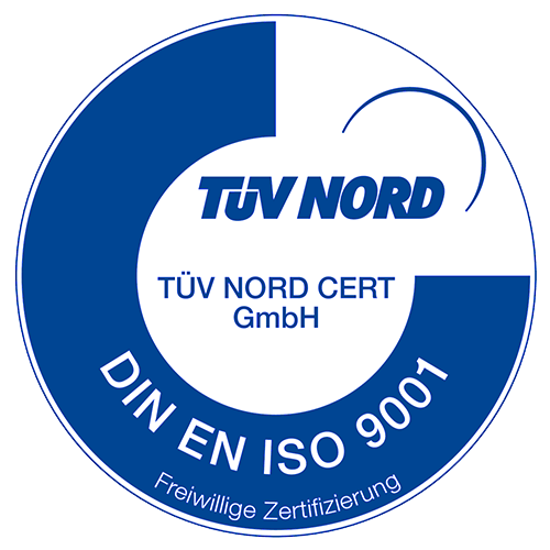TÜV Nord - DIN EN ISO 9001 Zertifizierung